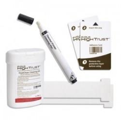 ACL002 Kit de nettoyage Advanced : 2 cartes en T, 2 cartes adhésives, 1 stylo, 60 lingettes pour imprimantes Zenius Primacy