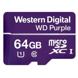Western Digital Purple mémoire flash 64 Go MicroSDXC Classe 10